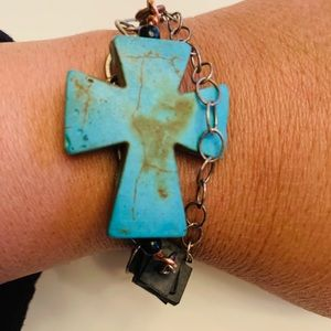 Jewelry - Large Blue Cross Bracelet